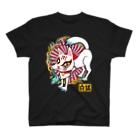 プリン先輩のお店のお魚くわえた白狐さん♪ T-shirts