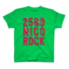 NicoRock 2569の2569NICOROCK PinkYellowGreen T-shirts