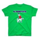 NIKORASU GOの野球デザイン「オールラウンドプレイヤー」 T-shirts