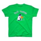 NIKORASU GOのユーモアデザインTシャツ「ヤジ担当」 T-shirts