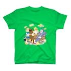 かめ野むし子のこぶたぬきつねこ T-shirts