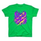 SILVERWOLFMENmixculturedesinのsteersからの移動商品「狼カリグラフィー2型」 T-shirts