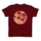 日枝野小路のうにーく!チェリーバーガンディレッド T-shirts