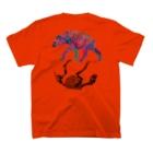 どうぶつのホネ、ときどきキョウリュウ。のブチハイエナ3 T-shirtsの裏面