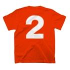 KIDMAMA SHOPのキッズ:  兄弟ナンバリング「2」白プリント  T-shirtsの裏面