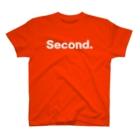 KIDMAMA SHOPのキッズ:  兄弟ナンバリング「2」白プリント  T-shirts