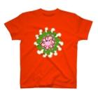 シソイロハの元気の塊となったウサギ T-shirts