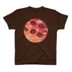 日枝野小路のうにーく!チェリーバーガンディレッド T-Shirt