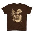 花日和 畳の茶釜の化狸(白) T-shirts