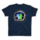 ムクデザインのマメルリハ ミーツ アストロノーツ T-shirts