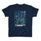 g-netのG-NET OFFICIAL GOODS RIDE HARD BLUE DARK T-shirts