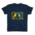 和歌の黄色と青のセキセイインコ T-shirts