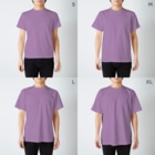 UNKNOWNARTWORKZのRemains emotional  T-shirtsのサイズ別着用イメージ(男性)