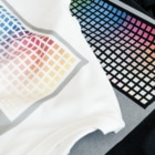ちょりたん画伯キャラクターズショップのマリーゴールドちゃんのファッションショー シルエットバージョン T-shirtsLight-colored T-shirts are printed with inkjet, dark-colored T-shirts are printed with white inkjet.