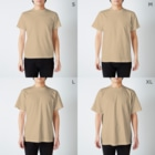 おからドーナツのアトリエのカフェマスター*Tシャツ T-shirtsのサイズ別着用イメージ(男性)