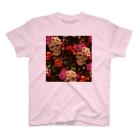 IZANAGIのフローラルなドクロ~ T-shirts
