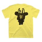 大仏2.0/鹿と仏 SHIKA TO HOTOKEの黒BUSHIKA T-shirtsの裏面