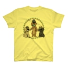 ヤマノナガメのThe 3 poodles Tシャツ