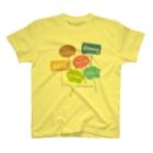 京都カラスマ大学のカラフルメッセージ T-shirts