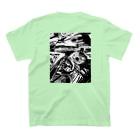 PHZAKE by mrのPHZAKE(ふざけ) / バルーン白黒 T-Shirtの裏面