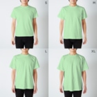 naminaのThe END T-shirtsのサイズ別着用イメージ(男性)