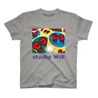 総合格闘技・フィットネス studio Willの studio Will×INGRID カラフルオリジナルTシャツ_B T-shirts