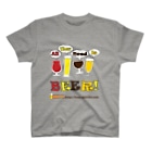 福岡のビールフリーペーパービール大好きドットコムのall you need is beer T-shirts