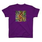 deepflowのパーティーガール Tシャツ パープル T-shirts