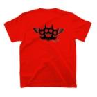 Ryoku のRyoku-Knuckle devil b-red T-shirtsの裏面