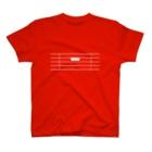 アイジロタウン出張販売店の全休符(白字) T-shirts