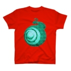 ㈱山口敏太郎タートルカンパニーのタートルカンパニー・ビッグアイ【チェック柄-緑】 T-shirts