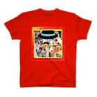 テル!のお店のニャンコ一杯賑(にぎ)やかし T-shirts