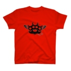 Ryoku のRyoku-Knuckle devil b-red T-shirts