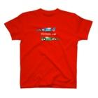 bou_design_inoのフォーミュラーカーのイラスト(文字白ヌキ) T-shirts