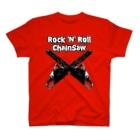 【12moonMonstarZ】トゥエルブムーンモンスターズのロッキンロールチェインソー T-shirts