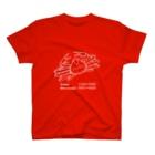 Rabbit and frog crabのカニ大好き(白) T-shirts