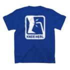 2BRO. 公式グッズストアの白「KNEE HEAL」濃色Tシャツ Tシャツ