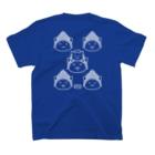 PygmyCat suzuri店の仏にゃんs(白線) T-shirtsの裏面