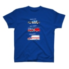 bou_design_inoのアメリカの緊急車両っぽいイラスト(白ヌキ文字) T-shirts