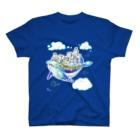 ミルの天空の城クジーラとゆるい仲間たち T-shirts