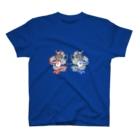 福猫の花壇の双子龍のTシャツ T-shirts