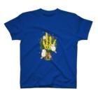 BARE FEET/猫田博人のミモザとアザラシ・Tシャツ T-shirts