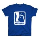 2BRO. 公式グッズストアの白「KNEE HEAL」濃色Tシャツ T-Shirt