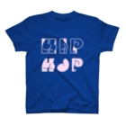 SANKAKU DESIGN STOREのHAPPY ASS HIP HOP! ネオンピンク T-shirts