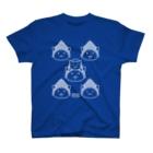 PygmyCat suzuri店の仏にゃんs(白線) T-shirts