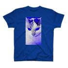 猫沢太陽のサイボーグ・フワフワ(ブルー) T-Shirt