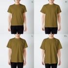 ishiの🍁 T-shirtsのサイズ別着用イメージ(男性)