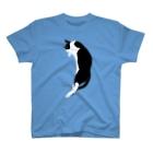 夜舟のうらめしやねこ・はちわれ T-shirts