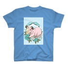 Lichtmuhleのレジメンタルストライプ×モルモット 水色 T-shirts