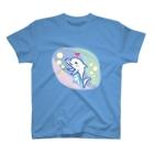 Ayano & Dolphinのイルカの親子 どるどるふぃん  T-shirts